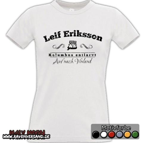 Leif Eriksson T-shirt weiss Frauen