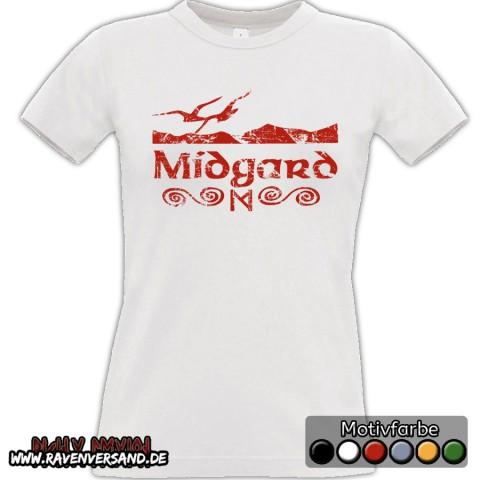Midgard T-shirt weiss Frauen