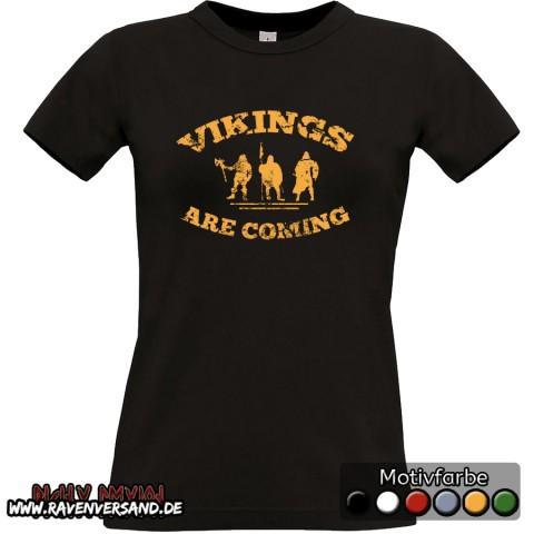 Vikings are coming T-shirt schwarz Frauen