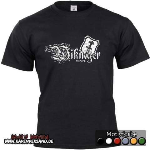 Wikinger T-shirt schwarz