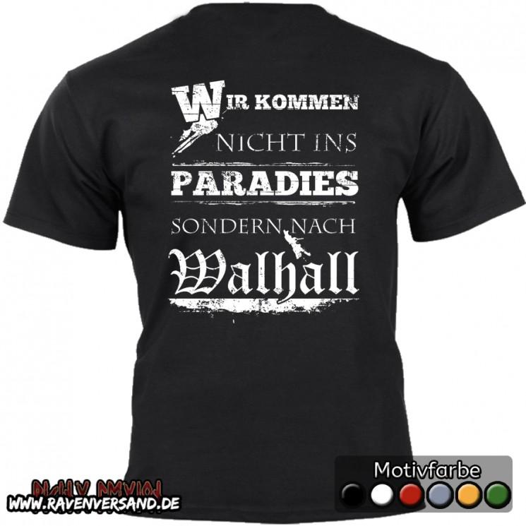 T-shirt schwarz hinten