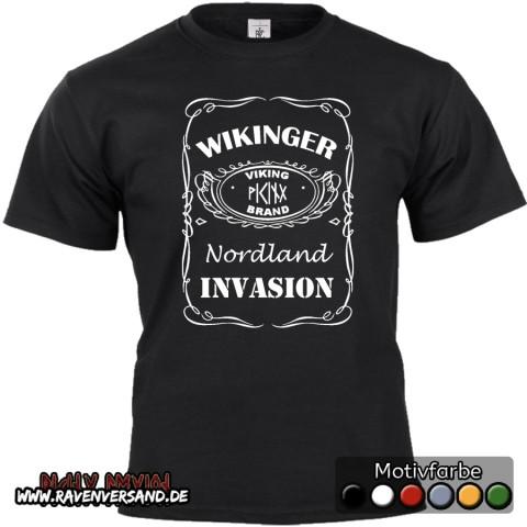 Wikinger Invasion T-shirt schwarz