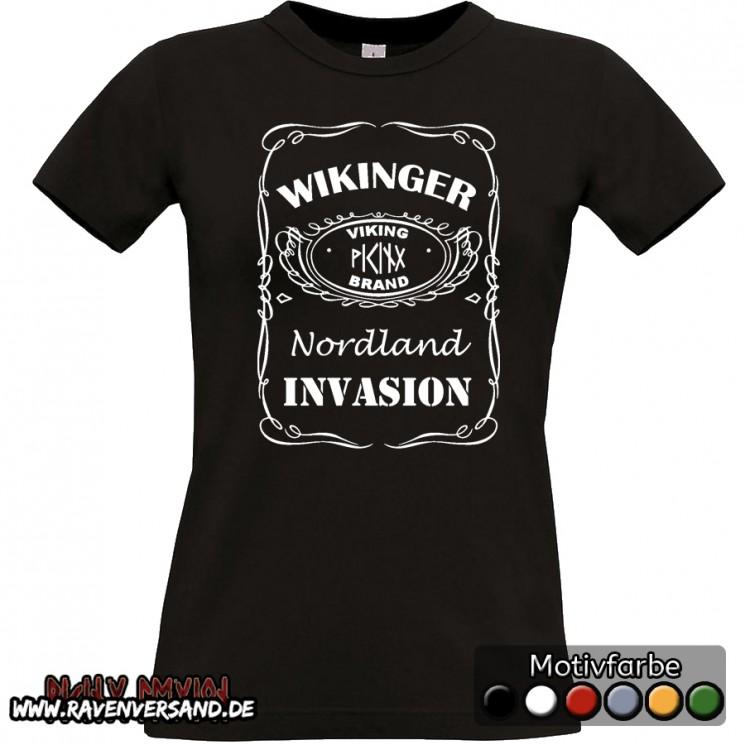 Wikinger Invasion T-shirt schwarz Frauen