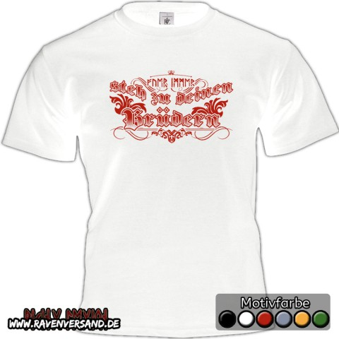 Brüder T-shirt weiss