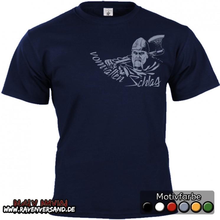vom alten Schlag T-shirt blau