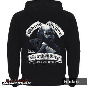 Odins Krieger Kapuzenpullover Rücken -