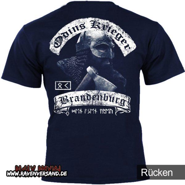 Odins Krieger T-shirt blau hinten