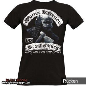 Odins Krieger T-shirt schwarz Frauen hinten