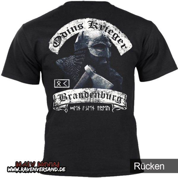 Odins Krieger T-shirt schwarz hinten