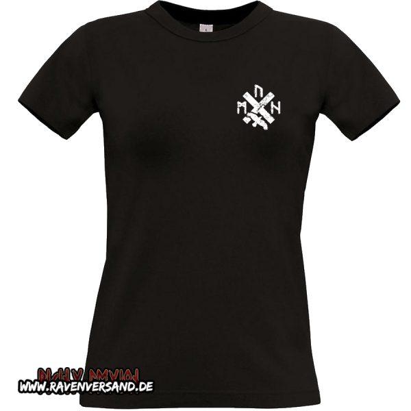 T-shirt schwarz Frauen ohne Motivfarbe