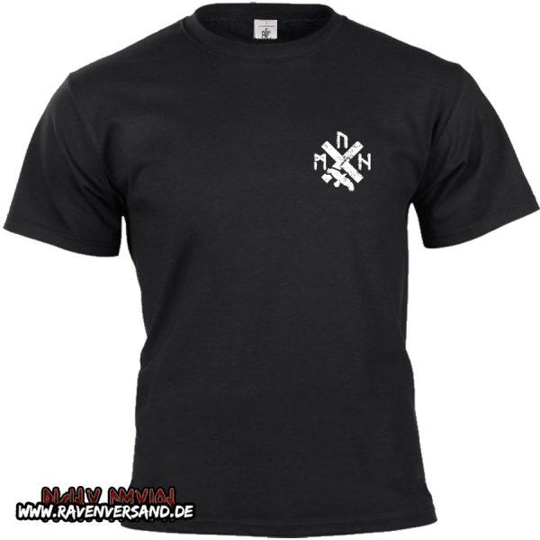 T-shirt schwarz ohne Motivfarbe