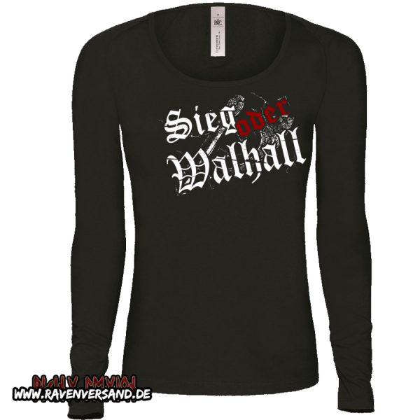 Sieg oder Walhall 2 Pullover Frauen ohne Motivfarbe