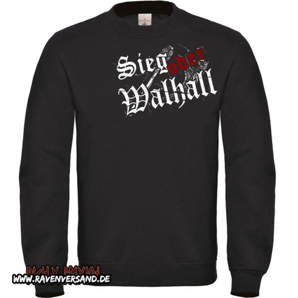 Sieg oder Walhall 2 Pullover Männer ohne Motivfarbe