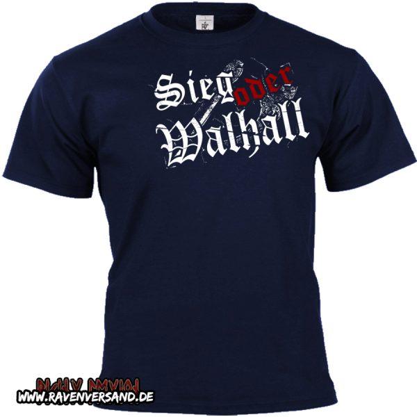 Sieg oder Walhall 2 T-shirt blau Kopie