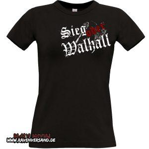 Sieg oder Walhall 2 T-shirt schwarz Frauen ohne Motivfarbe