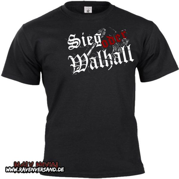 Sieg oder Walhall 2 T-shirt schwarz ohne Motivfarbe