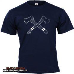 germanische Äxte T-shirt blau